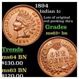 1894 Indian 1c Grades Select+ Unc BN