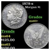 1878-s Morgan $1 Grades Select+ Unc