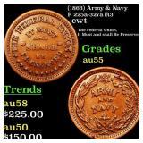 (1863) Army & Navy F 225a-327a R3 cwt Grades Choic