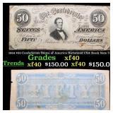 1864 $50 Confederate States of America Richmond CS