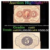 ***Auction Highlight*** 1862 US Fractional Currenc