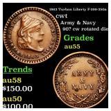 1863 Turban Liberty F-299-350a R2 cwt Grades Choic
