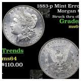 1883-p Mint Error Morgan $1 Grades Choice Unc