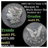1897/18-7-s Vam 2 R5 Morgan $1 Grades Select Unc P