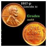 1917-p Lincoln 1c Grades Select AU