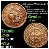 1863 Indian F-NY-890-A-1a R3 cwt Grades vf++
