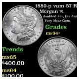 1889-p vam 57 R5  Morgan $1 Grades Choice+ Unc