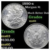 1890-s Morgan $1 Grades BU+