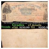 Nov 1st 1862 $1 Jackson, Mississippi Cotton Pledge