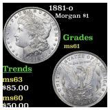 1881-o Morgan $1 Grades BU+