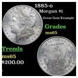 1885-o Morgan $1 Grades GEM Unc