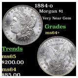 1884-o Morgan $1 Grades Choice+ Unc