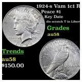 1924-s Vam 1c1 R5 Peace $1 Grades Choice AU/BU Sli