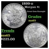 1899-o Morgan $1 Grades GEM Unc