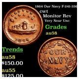 1864 Our Navy F-241-336a cwt Grades Choice AU/BU S