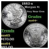 1882-s Morgan $1 Grades Choice+ Unc