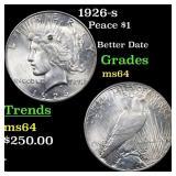 1926-s Peace $1 Grades Choice Unc