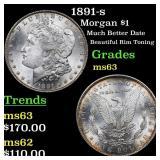 1891-s Morgan $1 Grades Select Unc