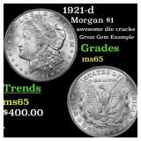1921-d Morgan $1 Grades GEM Unc