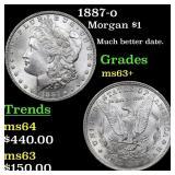 1887-o Morgan $1 Grades Select+ Unc