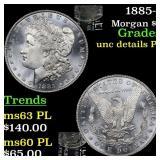 1885-p Morgan $1 Grades unc details PL