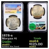 1878-s Morgan $1 Graded ms63