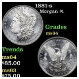 1881-s Morgan $1 Grades Choice Unc