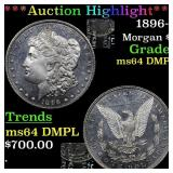 *Highlight* 1896-p Morgan $1 Grades Choice Unc DMP