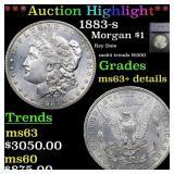 *Highlight* 1883-s Morgan $1 Graded ms63+ details