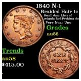 1840 N-1 Braided Hair 1c Grades Choice AU/BU Slide