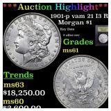*Highlight* 1901-p vam 21 I3 R5 Morgan $1 Graded B