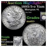 *Highlight* 1895/5-o Vam 3 Morgan $1 Graded Select