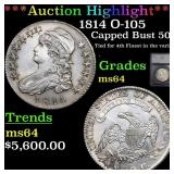 *Highlight* 1814 O-105 Capped Bust 50c Graded ms64
