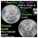 *Highlight* 1901-s Vam 9 Morgan $1 Graded GEM+ Unc