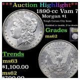 *Highlight* 1890-cc Vam 7 Morgan $1 Graded Select