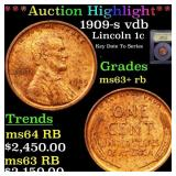 *Highlight* 1909-s vdb Lincoln 1c Graded Select+ U