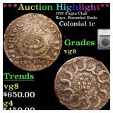 *Highlight* 1787 Fugio Club Rays, Rounded Ends Col