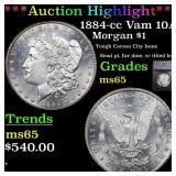 *Highlight* 1884-cc Vam 10A Morgan $1 Graded ms65