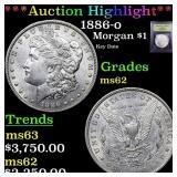 *Highlight* 1886-o Morgan $1 Graded Select Unc