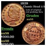 1829 Classic Head 1/2c Grades Select AU