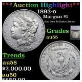 *Highlight* 1893-o Morgan $1 Graded au55