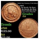 (1863) Our Country F-216-293a R3 cwt Grades f+