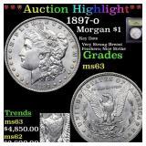 *Highlight* 1897-o Morgan $1 Graded Select Unc