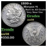 1899-s Morgan $1 Grades Choice AU/BU Slider