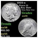1925-s Peace $1 Grades Choice AU/BU Slider