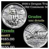 1926-s Oregon Trail Old Commem 50c Grades Unc Deta