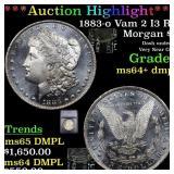 *Highlight* 1883-o Vam 2 I3 R5 Morgan $1 Graded ms