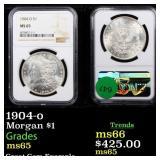 1904-o Morgan $1 Graded ms65