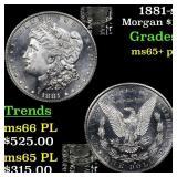 1881-s Morgan $1 Grades GEM+ PL