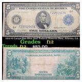 1914 $5 Large Size Blue Seal Federal Reserve Note,